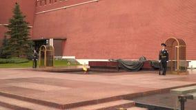 对无名战士莫斯科的纪念碑 股票录像