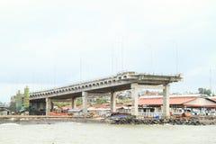 对无处的桥梁在万鸦老 库存照片