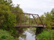 对无处的桥梁 库存图片