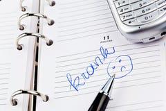 对日历的词条:病 免版税库存图片