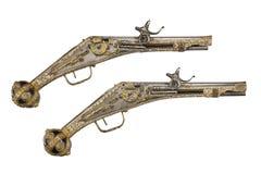 对早期的车轮锁手枪 免版税库存照片