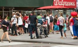 对时代广场的医疗应急在曼哈顿 免版税库存图片