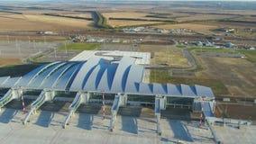 对普拉托夫机场的鸟瞰图在俄罗斯 股票录像
