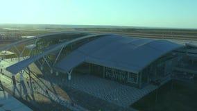 对普拉托夫机场终端的鸟瞰图  影视素材