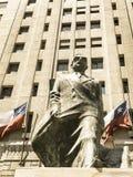 对智利政治家和政治人物的纪念碑 萨尔瓦多全部 免版税库存照片