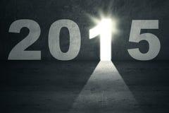 对未来的明亮的门2015年 免版税库存图片