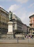 对朱塞佩Parini的纪念碑在米兰 伦巴第 意大利 免版税库存图片