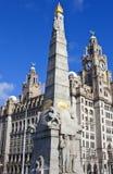 对机舱英雄的纪念品在利物浦 免版税库存照片