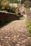 对村庄的教会运输路线 图库摄影