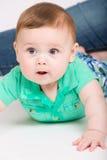 对某事感兴趣的婴孩 库存图片