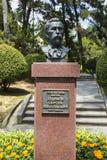 对树木园Khudekov S的创建者的一座纪念碑 n 免版税库存图片