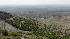 对格雷奇- Macin山的顶视图-罗马尼亚,多布罗加 股票视频