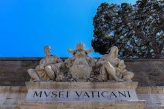 对梵蒂冈博物馆的词条 免版税库存照片