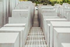 对欧洲的犹太人的柏林纪念碑 免版税图库摄影