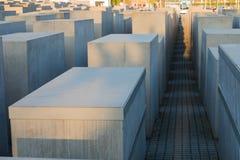 对欧洲,柏林的被谋杀的犹太人的纪念品 免版税图库摄影