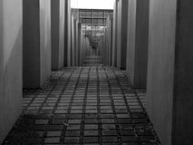 对欧洲/浩劫纪念品的被谋杀的犹太人的纪念品在柏林,德国 库存照片