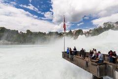 对欧洲最大的瀑布的看法  库存图片