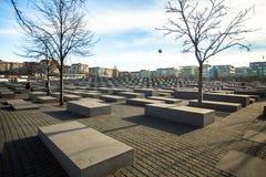 对欧洲的被谋杀的犹太人的纪念品,设计由建筑师彼得・艾森曼和工程师局Happold 库存照片