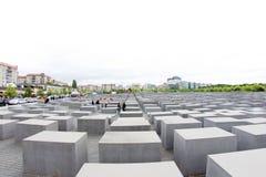 对欧洲,柏林,德国的被谋杀的犹太人的纪念品 图库摄影
