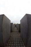 对欧洲,柏林,德国的被谋杀的犹太人的纪念品 免版税库存照片
