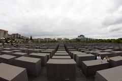 对欧洲,柏林,德国的被谋杀的犹太人的纪念品 库存图片