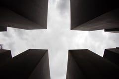 对欧洲,柏林,德国的被谋杀的犹太人的纪念品 免版税库存图片