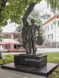 对歌手和诗人弗拉基米尔・维索茨基的纪念碑 免版税图库摄影