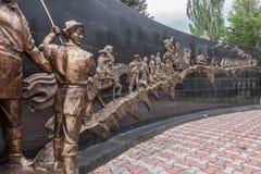 对死出逃俄国占领,胜利公园,卡拉科尔,吉尔吉斯斯坦的那些人的伟大的Urkun纪念品 图库摄影