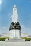对比利时步兵荣耀的纪念碑在第一次世界大战和II的 库存照片
