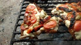 对比萨的猪肉 免版税图库摄影