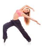 对比跳舞作用遮蔽妇女年轻人 库存照片