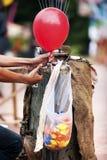 对气球的压缩的气体 图库摄影