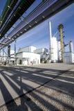 对氨基苯甲酸二工厂精炼厂 免版税库存照片