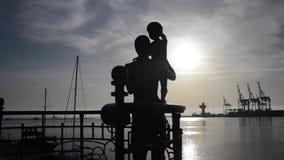 对水手` s妻子的傲德萨纪念碑 股票录像