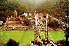 对永恒的桥梁:13个故事寺庙 免版税库存照片