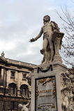 对沃尔夫冈・阿马德乌・莫扎特的纪念碑Burggarten的在维也纳 库存照片