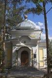 对沃洛格达州的圣Gerasimos教堂的入口在城市沃洛格达州 图库摄影