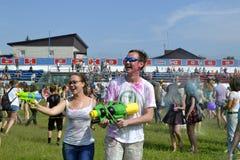 对油漆节日关心在秋明州,俄罗斯 20 06 2015年 免版税库存图片