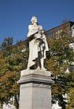 对法兰Anneessens的纪念碑在布鲁塞尔 比利时 库存照片