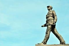 对法国夏尔・戴高乐的总统的一座纪念碑 库存图片