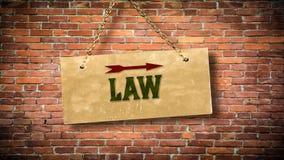 对法律的路牌 免版税库存图片
