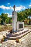 对法西斯主义的恐怖的全国解放战争时期和受害者的下落的战斗机的纪念碑在Somb 图库摄影