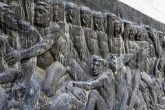 对法西斯主义的受害者的纪念碑在苏博蒂察市,塞尔维亚 库存照片