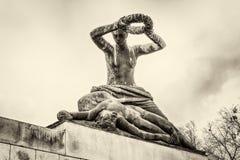对法西斯主义的受害者的纪念碑在苏博蒂察市,塞尔维亚 图库摄影