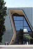 对波兰犹太人的历史的博物馆的入口 库存图片