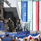 对波兰的人民的唐纳德・川普总统讲话 免版税图库摄影