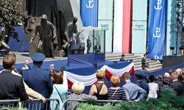 对波兰的人民的唐纳德・川普总统讲话 免版税库存图片