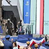 对波兰的人民的唐纳德・川普总统讲话 免版税库存照片