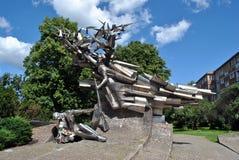 对波兰邮局的防御者的纪念碑 库存图片