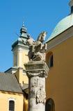 对波兹南的骑兵的纪念雕象 波兹南 免版税库存照片